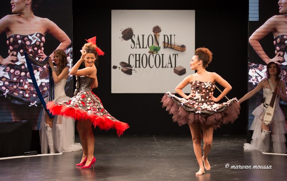 Karima Charni et sa soeur Hedia Charni du salon du chocolat marwan moussa