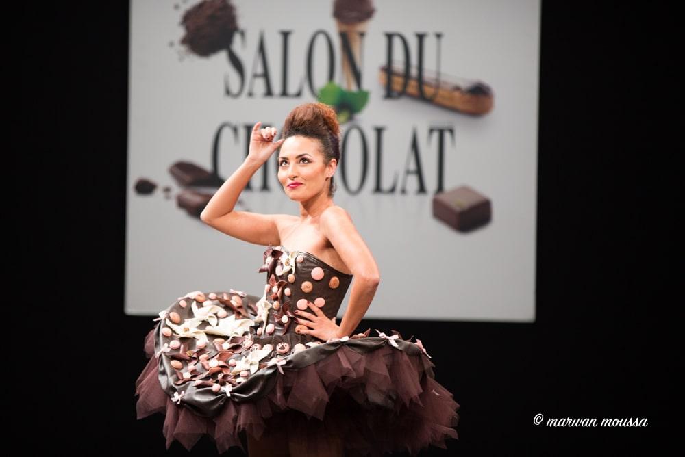 Hedia Charni du salon du chocolat marwan moussa