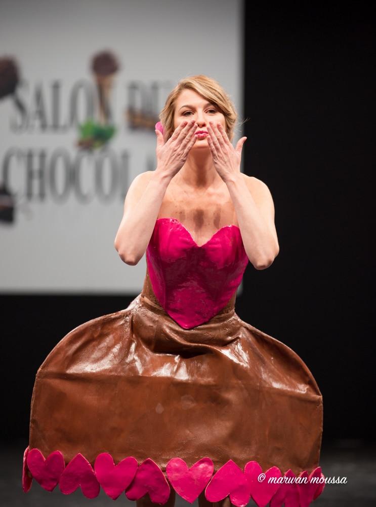 Sandrine Arcizet du salon du chocolat marwan moussa