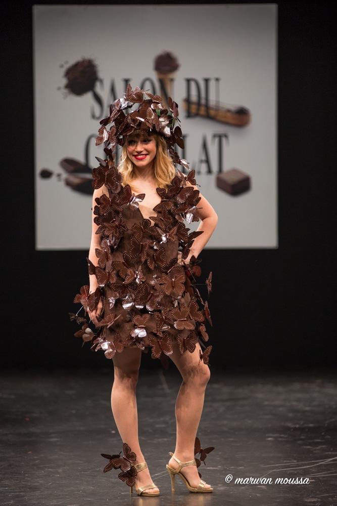 Léa Deleau du salon du chocolat marwan moussa
