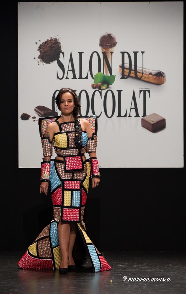 Alizée du salon du chocolat marwan moussa