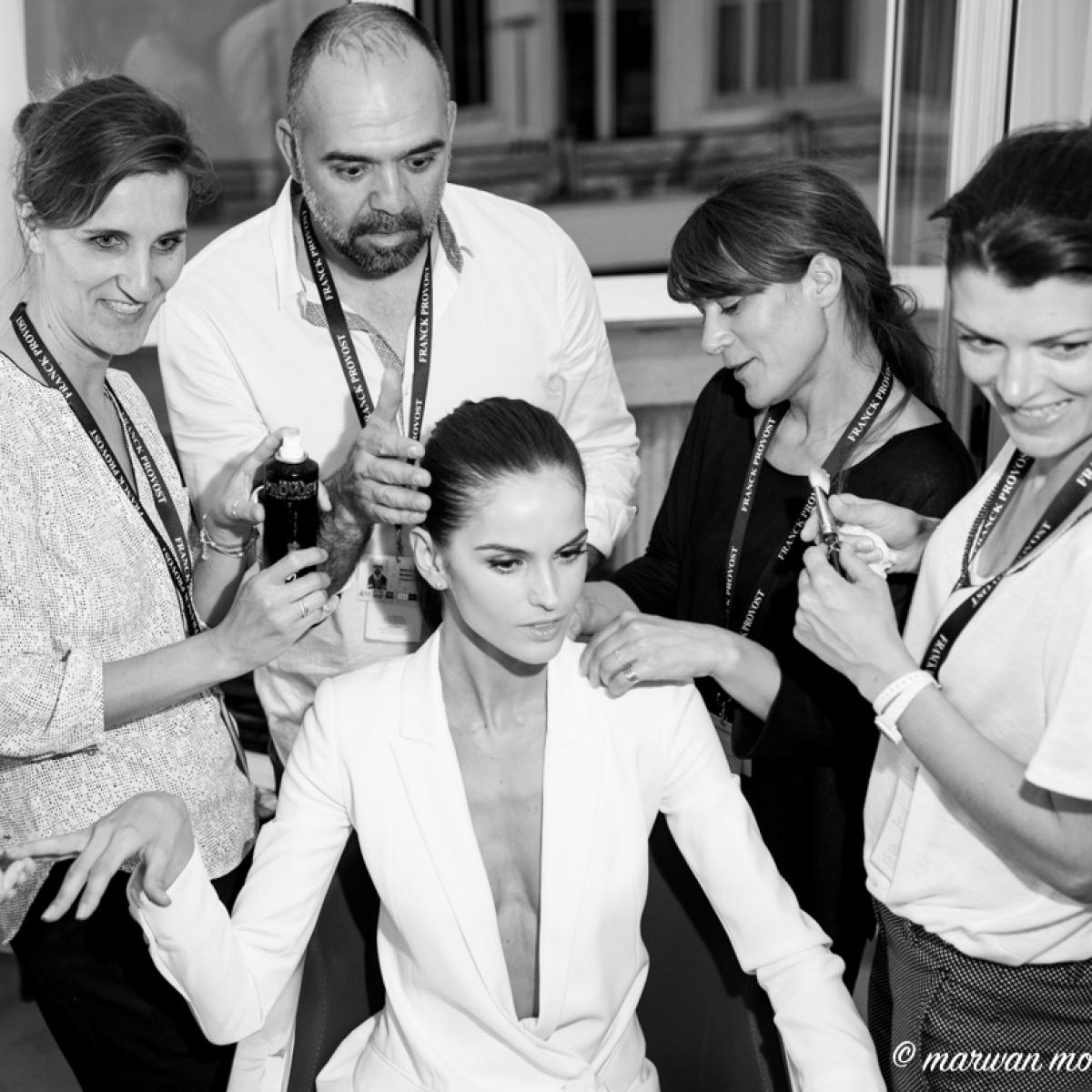 marwan ,moussa ,Izabel Goulart ,TOP MODEL, avec, l'equipe ,studio, Franck Provost, a , Cannes,